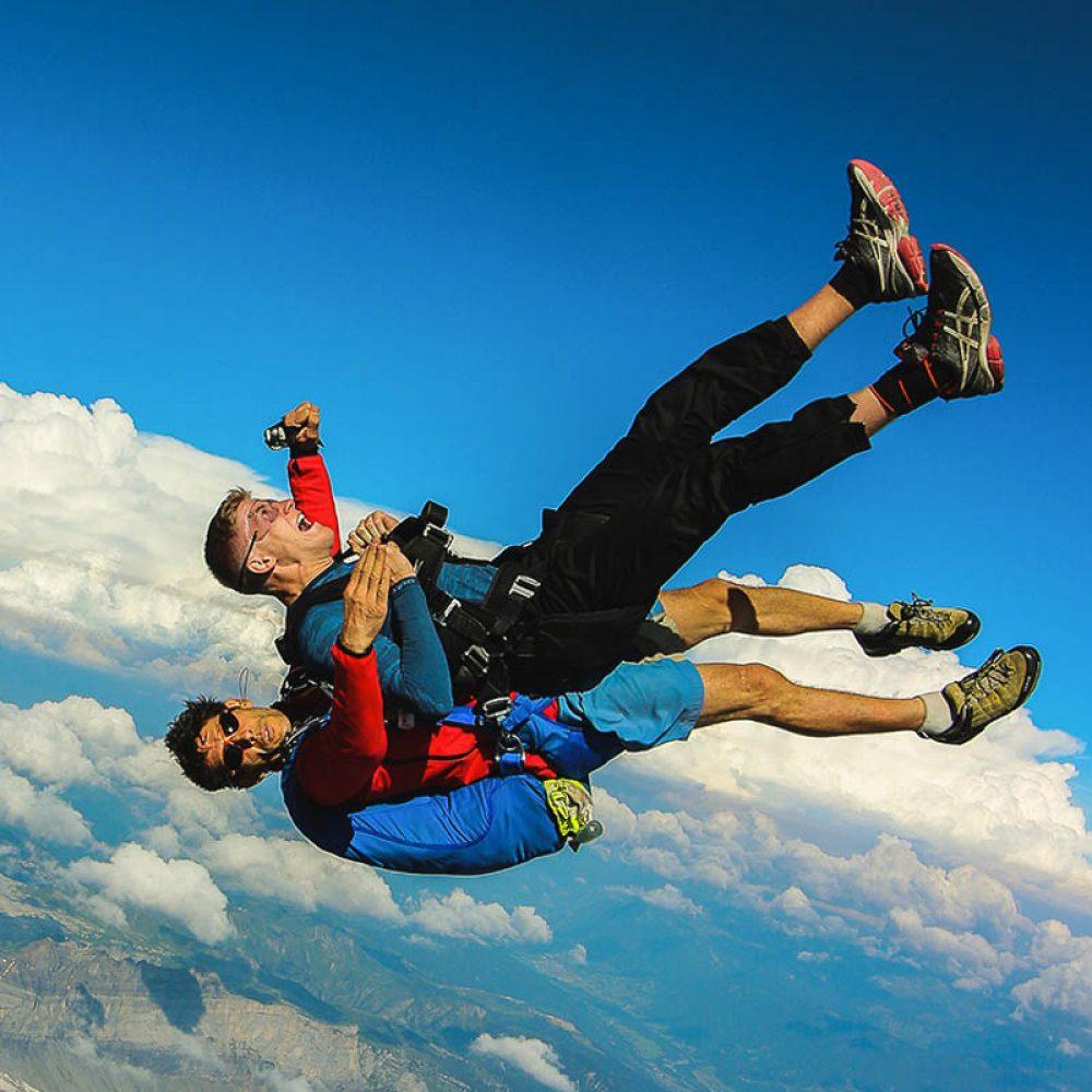 Saut en parachute prés d'Annecy