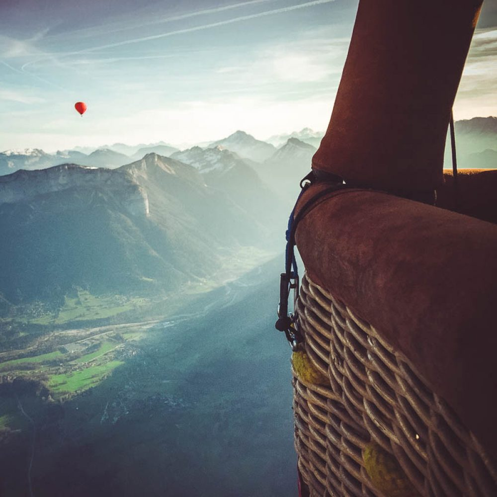 Survol d'Annecy en montgolfière