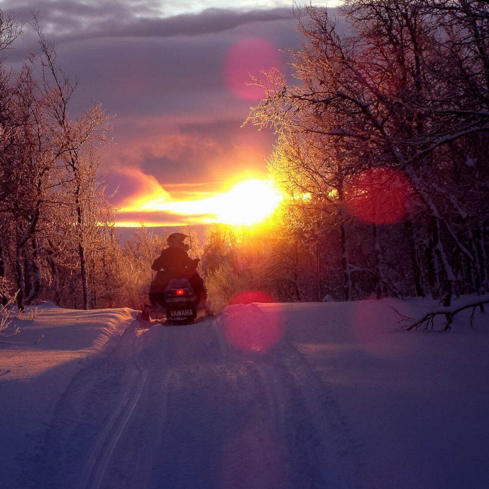 Scooter des neiges à Annecy