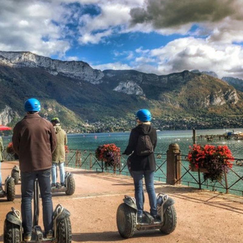 Balande en segway au lac d'Annecy