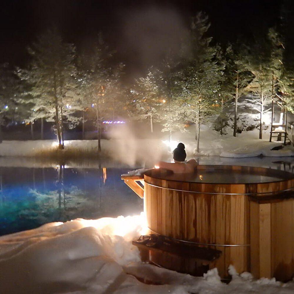 Bain chaud lac val cenis