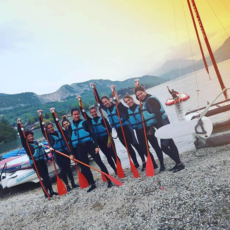 Activité paddle géant pour un EVJF