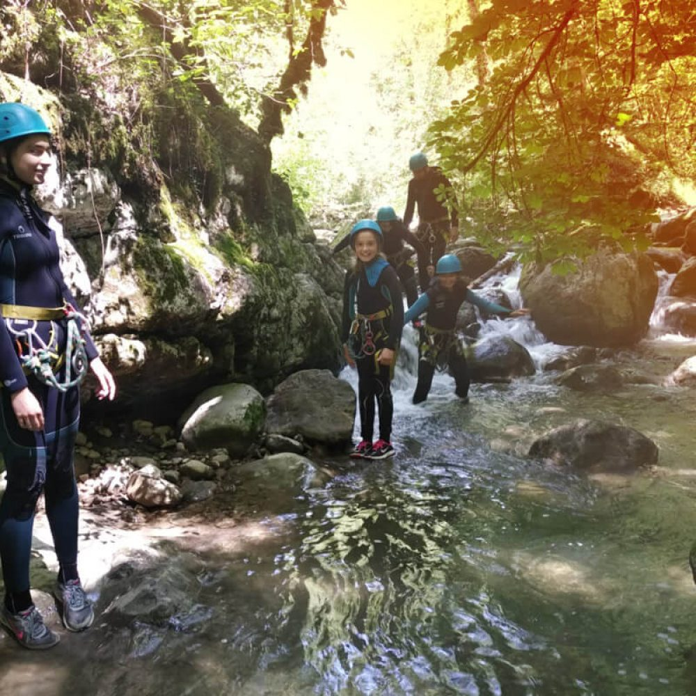 Canyoning en famille à Annecy