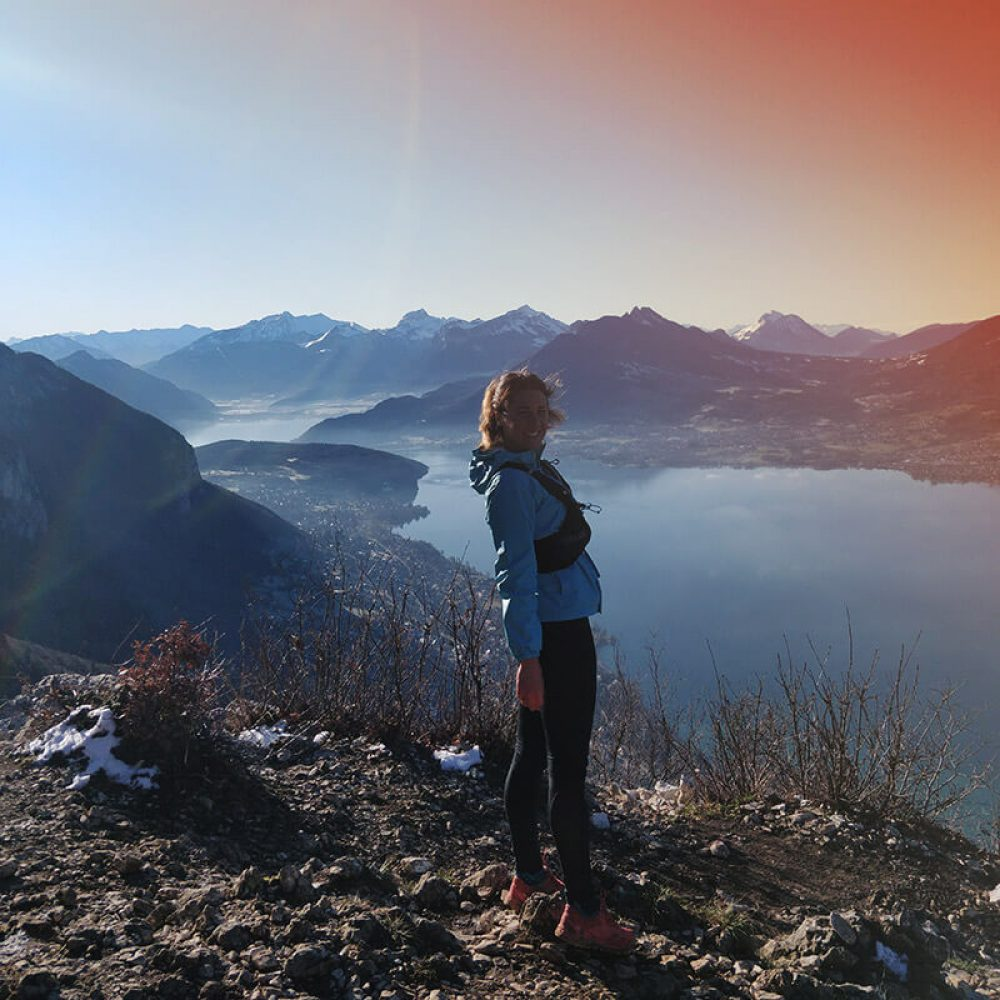 Randonnée avec vue sur le lac d'Annecy