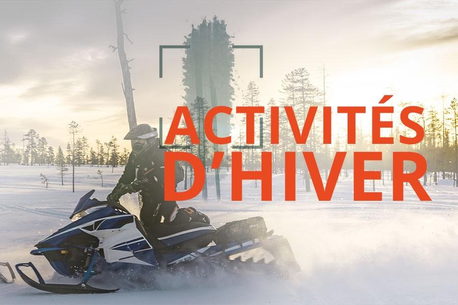 Activités d'hiver : motoneige